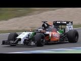 Formula 1 test Jerez 2014 [HD] pure V6 turbo sound