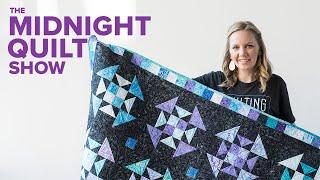 Churn Dash Variation Star Power Quilt Midnight Quilt Show SEASON 4 FINALE Angela Walters