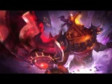 League of Legends INFERNAL NASUS Login Screen