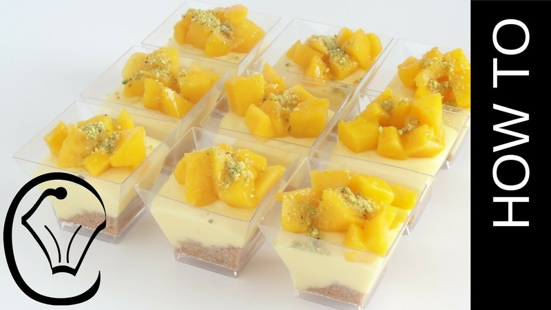 Mini No Bake Mango Cheesecake Dessert Cups by Cupcake Savvys Kitchen