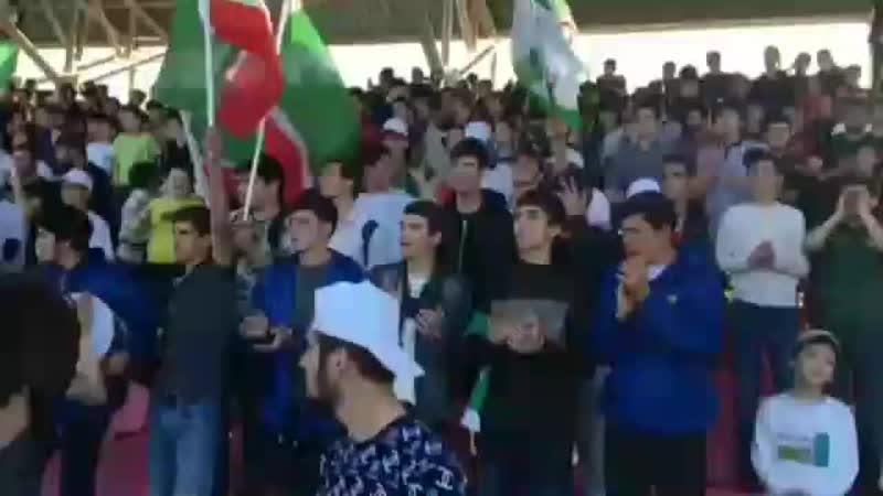 Ингуши и чеченцы вчера на поддержке футбольной команды Ангушт😍🔥✊💪