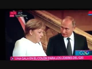 А потом все закрутилось, чудом спаслась Меркель рассказывает Путину о своих приключениях с