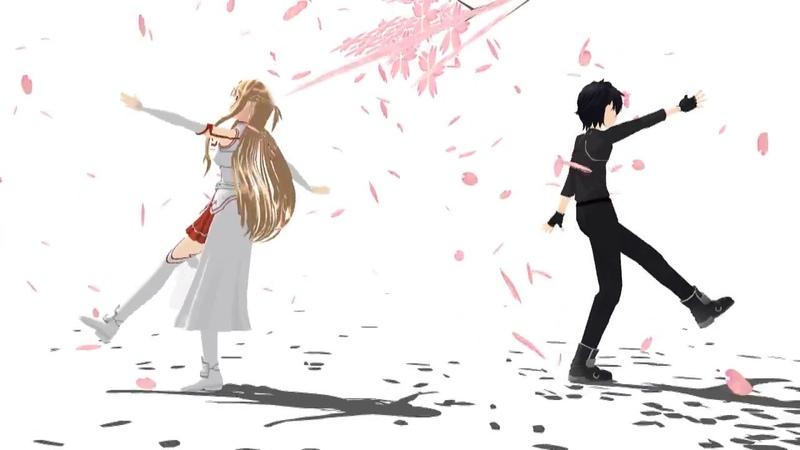 Drop Pop Candy (MMD) Asuna and Kirito