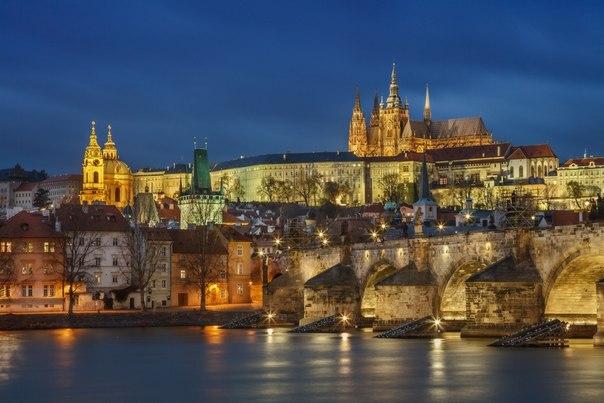 Ночная Прага. Автор фото: Илья Штром ( Спокойной ночи!