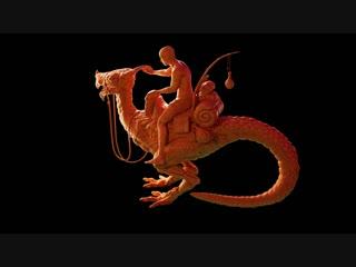 скульптура в Blender Динозавр