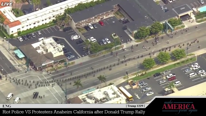 Riot Police Takedown Arrests in Anaheim, California