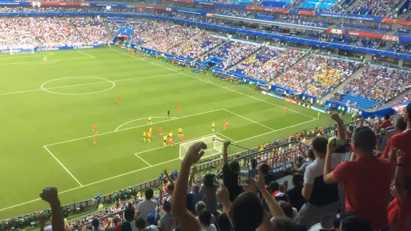 Англия-Швеция. Первый гол