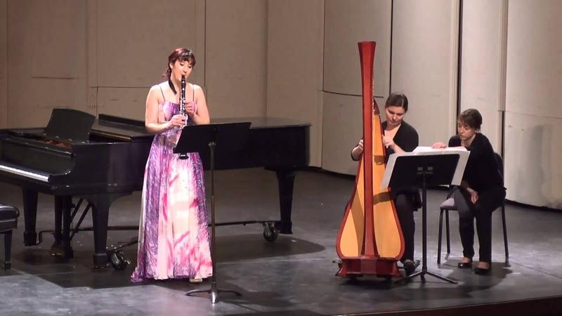 Katie Russell (кларнет) и Sage Po (арфа) - Capriccio, Op. 73 (11.04.2015 муз. Franz Poenitz)