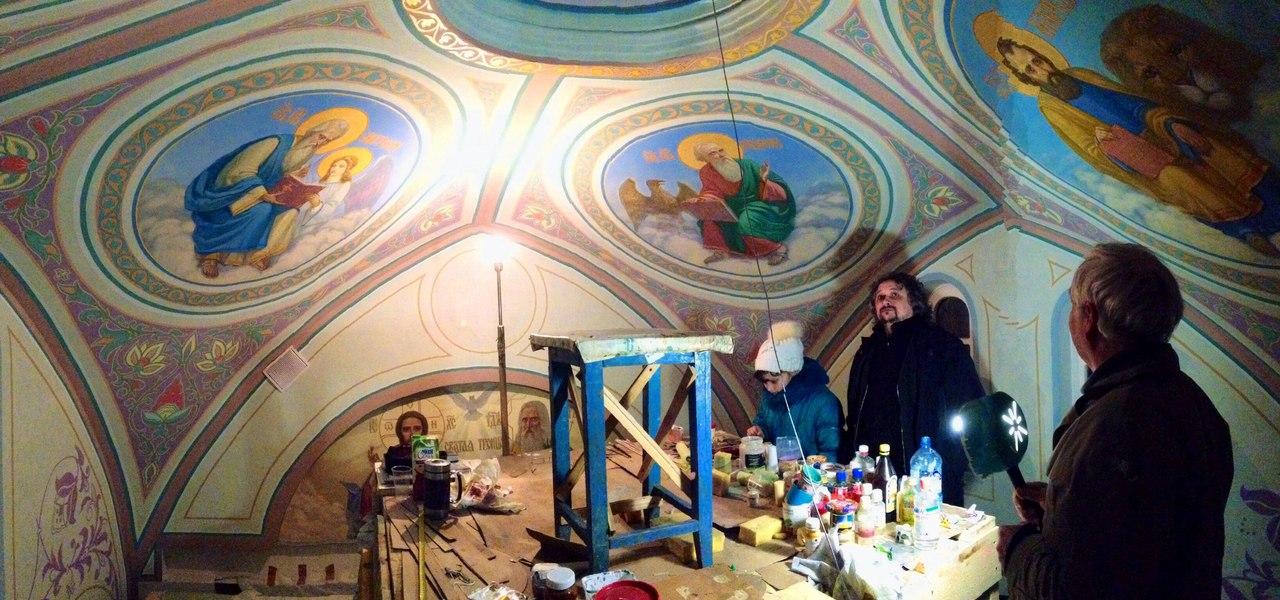 Роспись в часовне святителя Николая (г.Ломоносов)
