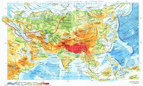 граница между европой и азией фото