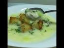 🙋Сырный суп с чесночными гренками😂😋