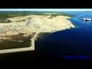 Стройплощадка центра строительства крупнотоннажных морских сооружений в Белокаменке Кольская верфь