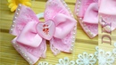Нежные бантики из репсовой ленты Нежность/ Как сделать бантики из репса ribbon bows