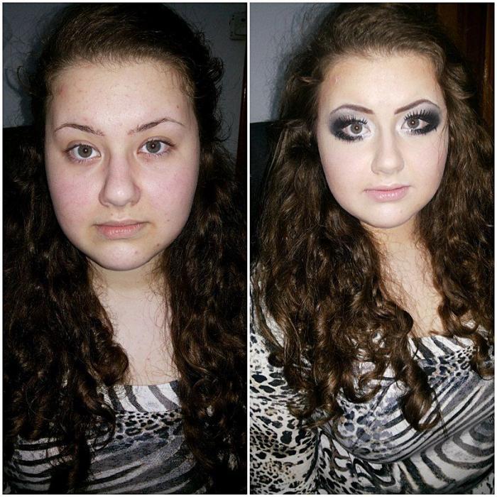 Макияж фото, Фото до и после, Фото до и после макияжа