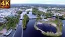 4K Finland above Pielisjoki Joensuu ilmasta