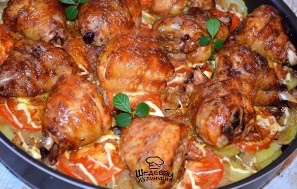 Как вкусно приготовить куриную голень с картошкой