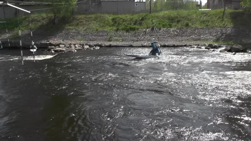 Тренировка на канале в Окуловке.