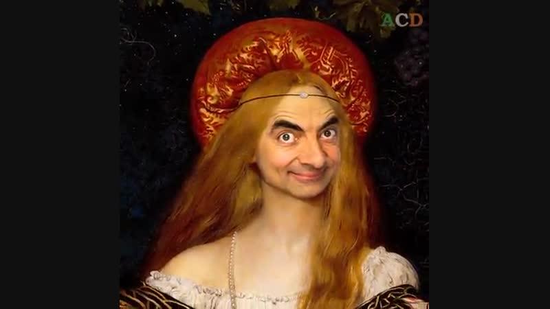 Das passiert wenn man Mr Bean s Gesicht auf einige berühmte historische Porträts legt