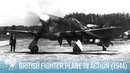 British RAF Hawker Tempest Fighter Plane in Action 1944 British Pathé