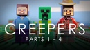 LEGO Minecraft Creepers COMPLETE Vol 1 Movie Parts 1 4