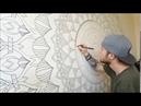 Mandala Mural 01. Third Eye. Wall Art