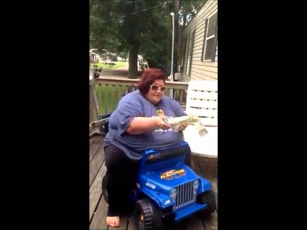 Nikki flips kid jeep while singing rearview
