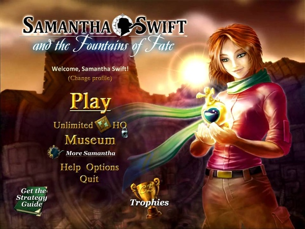 Samantha Swift and the Fountains of Fate intro
