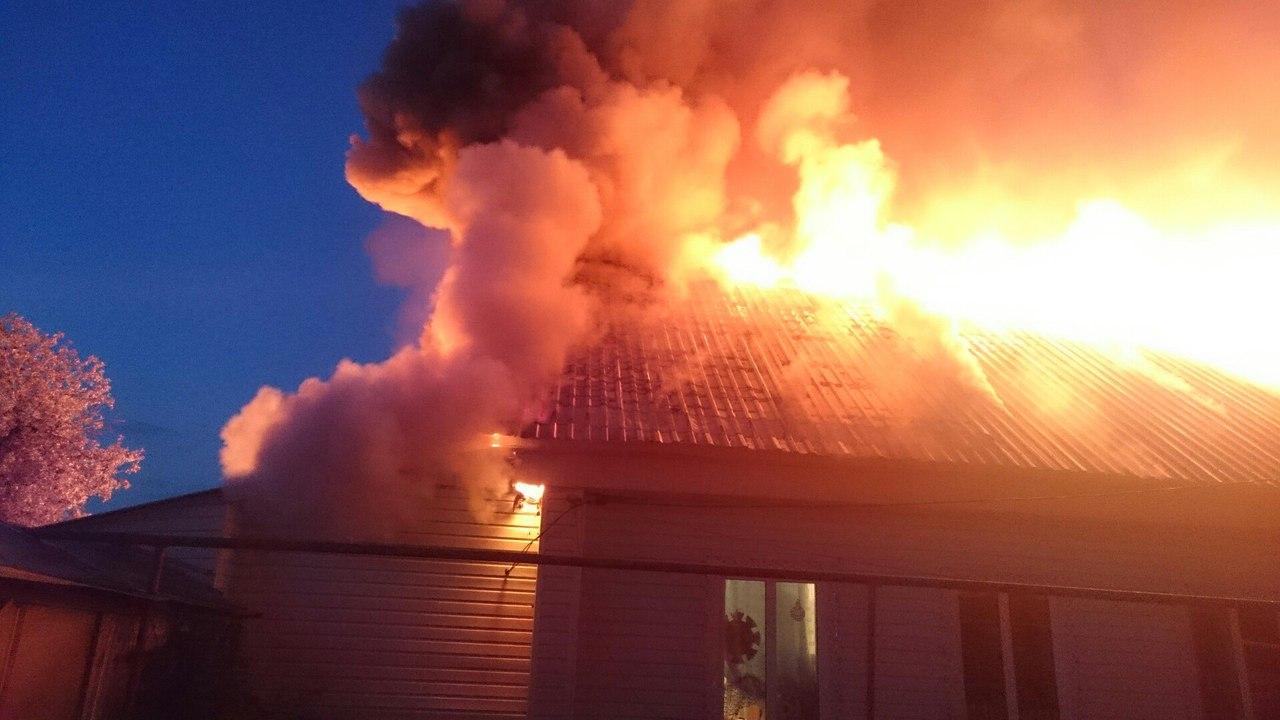 Пожар в Урупском районе оставил людей без жилья
