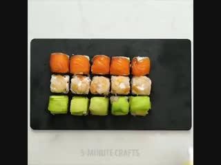 Простые и аккуратные мини-суши