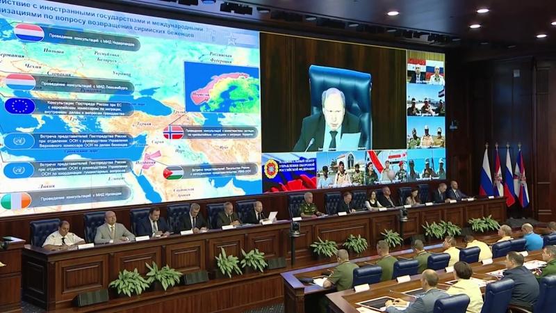 Заседание Межведомственного координационного штаба по возвращению беженцев в Сирию (15.08.2018)