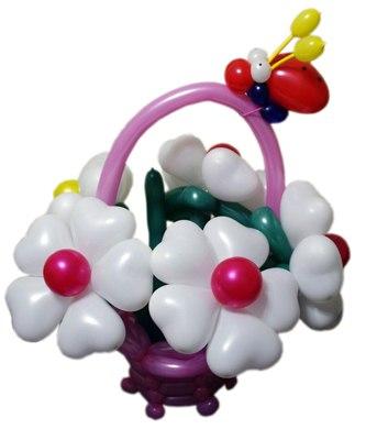 №327. Композиция из воздушных шаров «Корзина цветов»