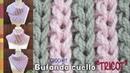 Bufanda corta o cuello BICOLOR en punto elástico de tricot tejido a crochet / Tejiendo Perú