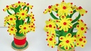 How to make Flower Vase with Wool GULDASTA   Best out of waste pepsi bottle craft   Home decor ideas