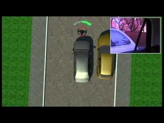 Смотреть видео Параллельная парковка в 3D.