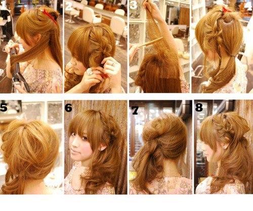 Красивая и лёгкая причёска