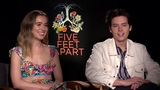 COLE SPROUSE, HALEY LU RICHARDSON, JUSTIN BALDONI Interview Five Feet Apart