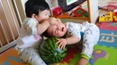 Cute Twins Baby Fighting Over 🍉🧸🍃📕 Funny Cute Video