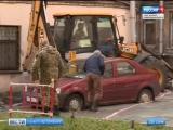 На Измайловском проспекте лопнулувшая труба затопила кафе - погибли два человека_Вести_ - Санкт-Петербург_. Видео
