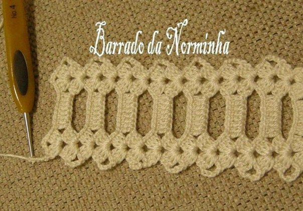 Delicadezas en crochet Gabriela: Galón decorativo