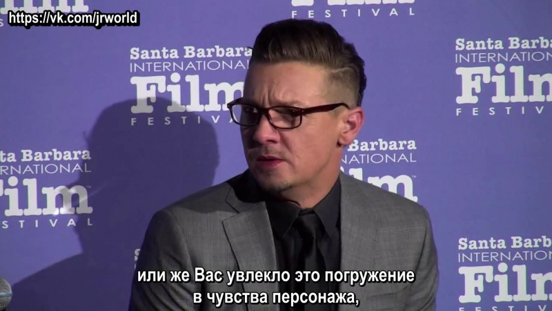 SBIFF Cinema Society Wind River QA with Jeremy Renner рус суб