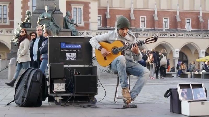 Уличное выступление алжирского гитариста Imad Fares -