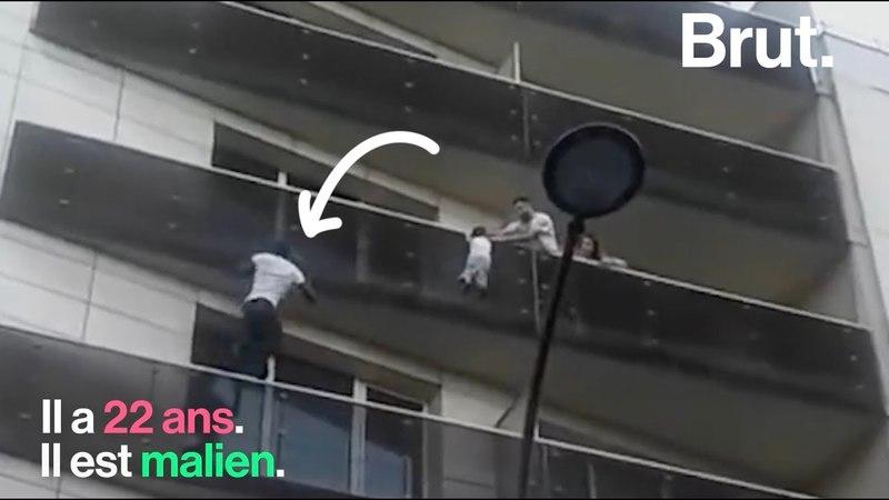 Mamoudou Gassama, le sauveur de lenfant suspendu à un balcon