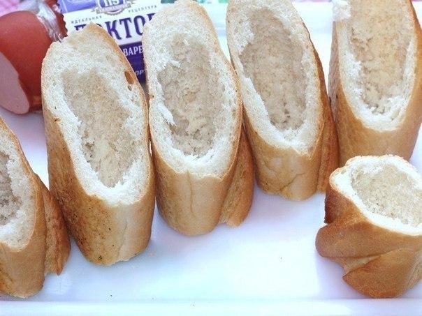 Хлебные стаканчики из багета Такие стаканчики можно съесть