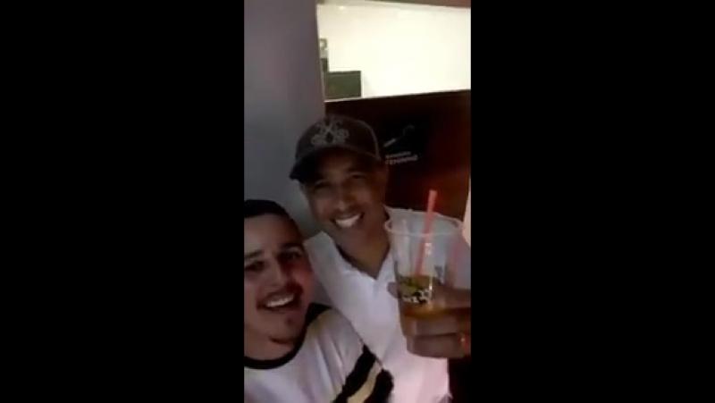 Marcelo Aparecido Souza comemorando o título do time dele! - - Parabéns aos envolvidos