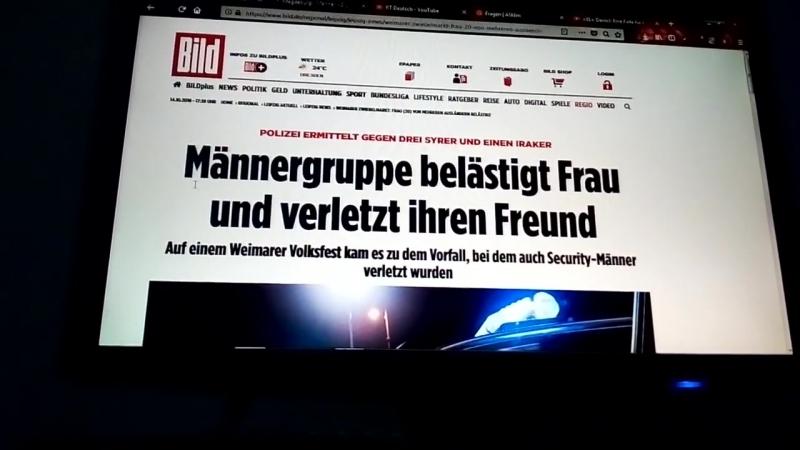 -Breaking News- Eine Gruppe syrisch,-irak.Invasoren schlugen deutsches Pärchen in Weimar