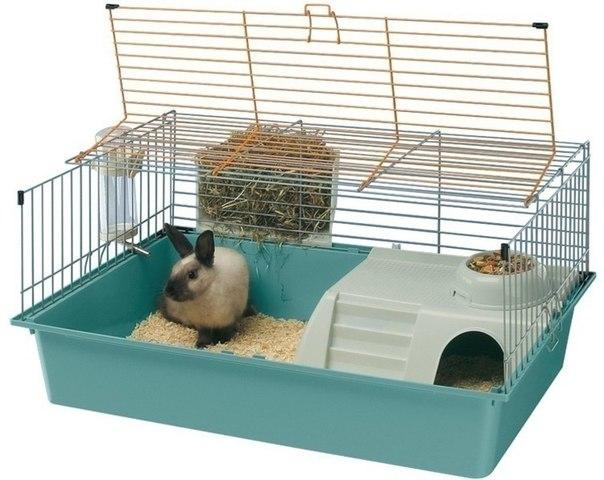 Клетки с яслями для кроликов