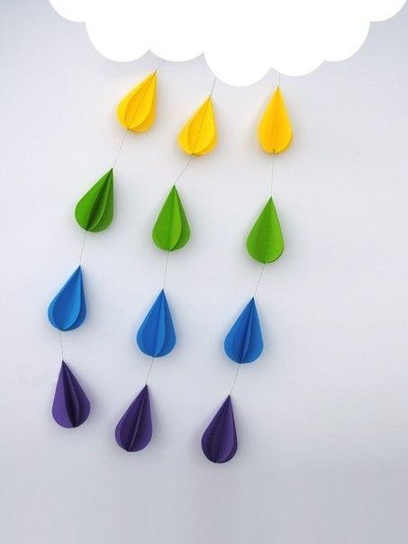 Поделки дождь