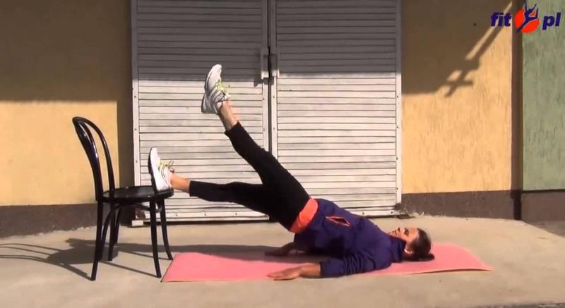 Упражнения со стулом