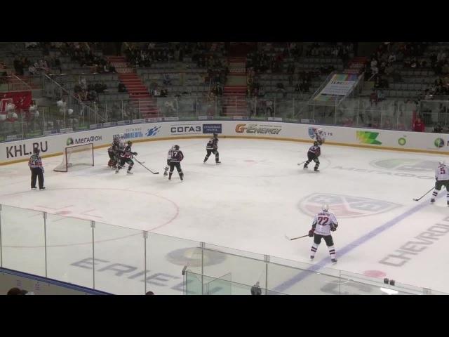 Khl Авангард - Ак Барс (2012.09) Гол. Морозов довершил разгром Авангарда, забросив пятую шайбу Ак Барса (0:5)