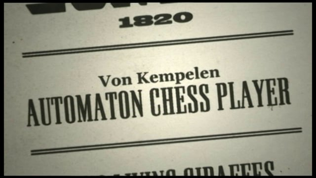 Science Scams Kempelen's Chess Playing Automaton